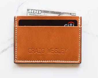 Personalized Leather Credit Card Holder, Personalized Leather Card Holder, Personalized Card Holder, Personalized Leather Cardholder,
