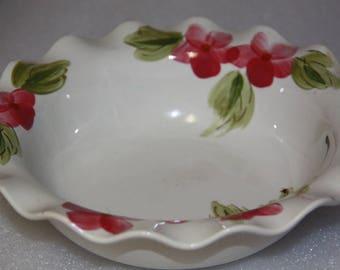 Sowitsu Akechi made in Japan hand painted bowl vintage bowl large fruit bowl serving bowl vintage Akechi floral pattern bowl