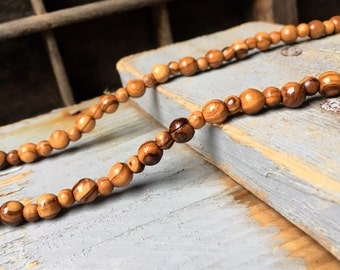 Bethlehem olive wood necklace