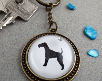 "Key fob ""AIREDALE Terrier"""