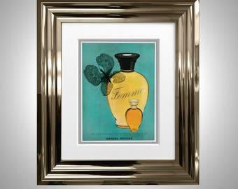 Vintage Perfume Original Style Print Classic Advertising Framed & Double Mounted Femme by Marcel Rochas Paris