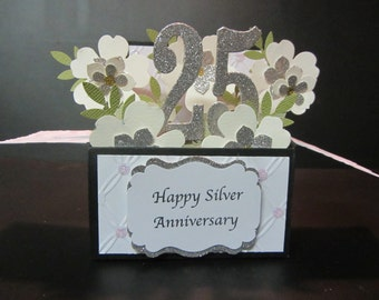 Handmade 3D Anniversary card in a box-PERSONALISED