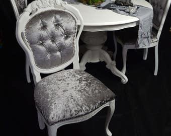 Shabby Chic French  Louis styele round dining table & 4 Louis chairs MADE TO ORDER