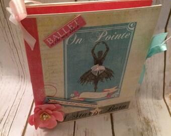 Dance Ballet  Scrapbook Mini Album/Memory Book/Photo Album