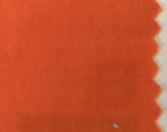 Bright Orange Quilter's Homespun 100% Cotton Fabric 1/2m lengths