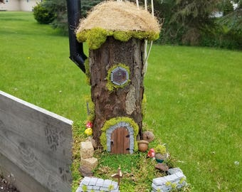 Forest Tower (Forest Dwellings, Fairy House, Fairy Garden, Gnome Home) OOAK