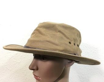 filson heavy cotton canvas hunting hat made in usa size 7 1/8
