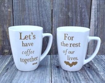 Engagement, Wedding, Anniversary, Mug Set, Valentines Gift