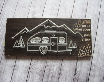 Camper String Art Camper Decor Camper Signs String Art Pattern Camping Lover Camper Home Decor String Art Camping String Art Wood Signs Gift