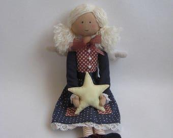 Angel With A Star. Handmade Tilda Doll.