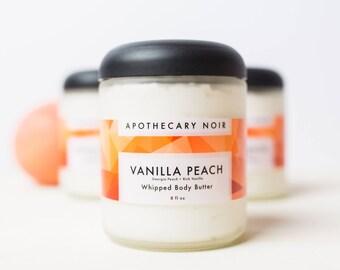 Vanilla Peach Body Butter - Avocado Butter - Glass Jar