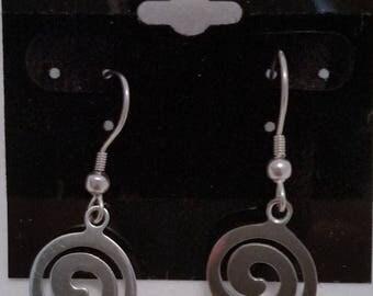 Sterling Silver Spiral Celtic Earring
