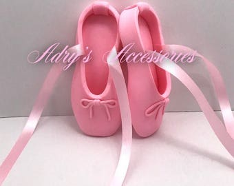 Gum Paste Ballerina Slippers Cake Topper
