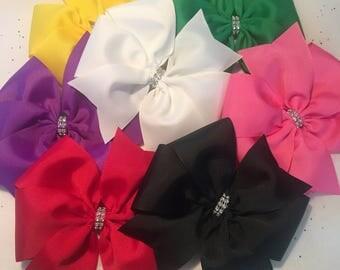XL Pinwheel Hairbow-XL Boutique Hairbow-Extra Large Bow - XL Hairbow-Xl Hairbow