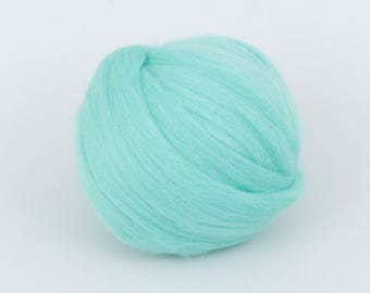 Lagoon B133, 24mic merino wool tops, 1.78oz (50gr) for needle felting, wet felting, spinning. 100% wool.