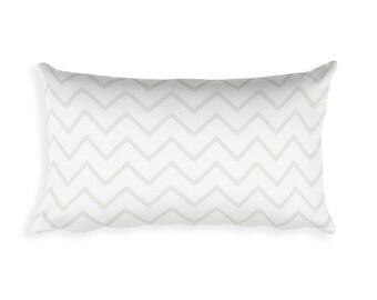 Chevron Lumbar Pillow | Chevron Pattern | Decorative Pillow | Chevron Throw Pillow