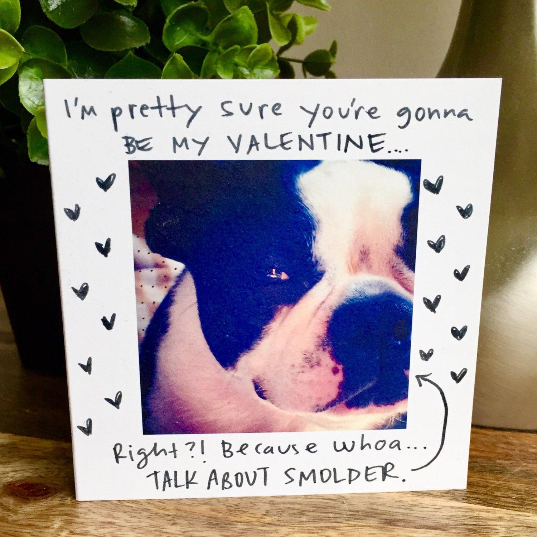 Dog valentine card be my valentine dog card smoldering eye – Be My Valentine Funny Cards