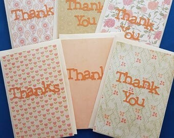 Thank you cards in packs of six