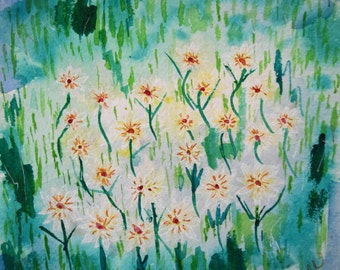 Painting, watercolor, Summer flowers