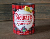 Stewarts Coffee can