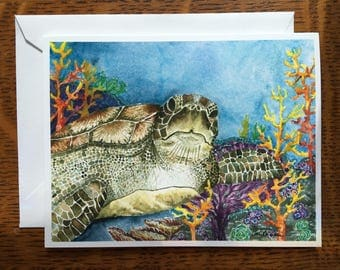 Sea Turtle Surprise Card