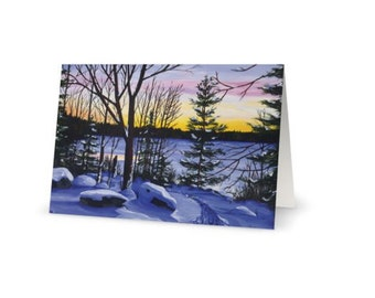 Blank Greeting Cards in pack of 3, Original Painting Cards for any Occasion, Winter Cards, Christmas Cards, Gift for someone special