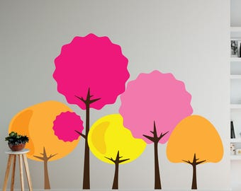 Bright Trees Set Wall Decal