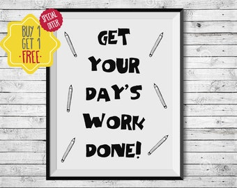 Student gifts, School desk, Motivational quotes, Student planner, Kids planner, Pencils, Kids wall decor, Nursery wall art, children room