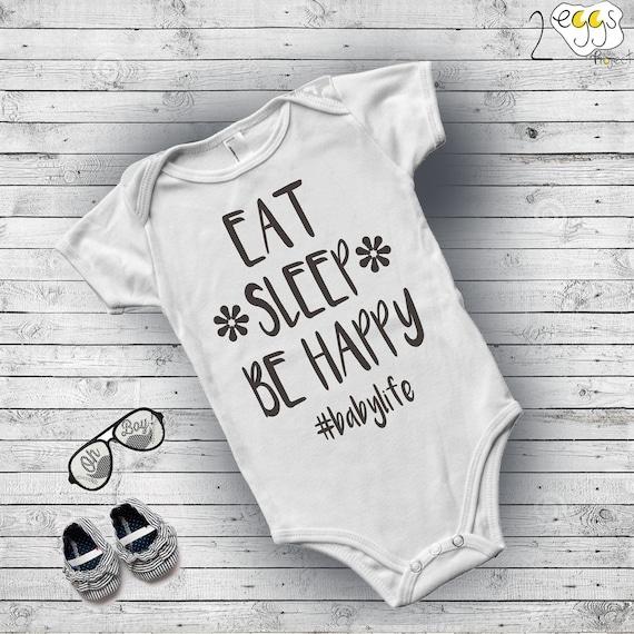 Cute Baby Sleeping Quotes: Eat Sleep Cute Baby Sayings Newborn Christmas Gift Onesies