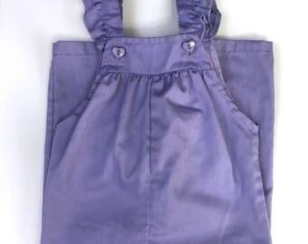 Purple Baby Overalls, Vintage Baby Jumper, Baby Girl Romper, Health-tex, Size 24 Months, 1980's Baby Clothes, Vintage Baby Clothes, Jumper