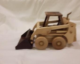 Handmade Wooden Skid-Steer Loader (Bobcat)