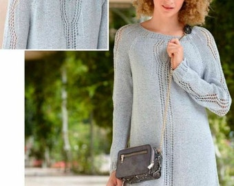 Kleid-knit dress - cotton mix knitted tunic