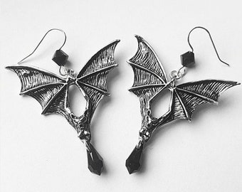 Bat Whisperer Gothic Earrings