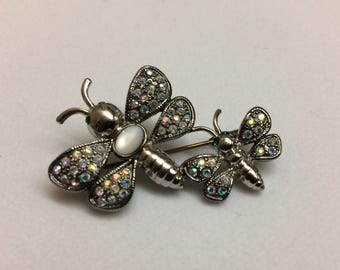 Signed Butterfly Brooch