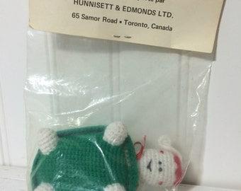 Tiny Crochet Amigurumi Christmas Turtle Ornament