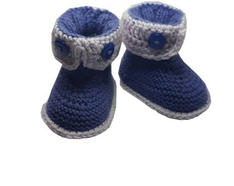 Gray Purple gift from grandpa , knitted baby booties for sale, knitted baby booties gifts for everyone , socks