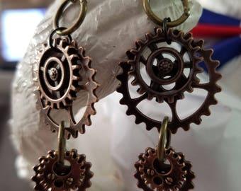 Steampunk style gearrings