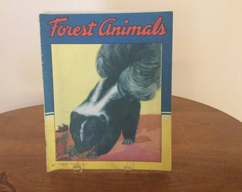 Vintage Forest Animals 1943 Iinen pages