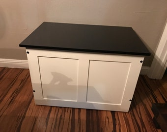 unassemble toy chest, toy box, blanket chest, storage