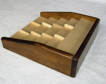 Card Rack 12 slots Settlers of Catan, Cities and Knights, Dark Stain