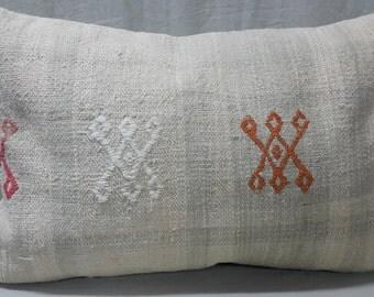 Kilim Pillow, Cushion Cover, Throw Pillow, Tribal Pillow, Turkish Kilim Pillow, Kilim Cushion, Lumbar Pillow, Lumbar Kilim Pillow, Cover