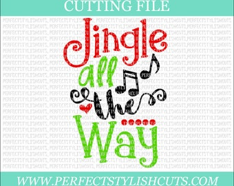 Jingle All The Way SVG, DXF, EPS, png Files for Cutting Machines Cameo or Cricut - Christmas Svg, Jingle Bells Svg, Santa Svg