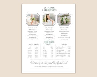 Green Leaf Branch Pricing Guide Template-Price List Card template design