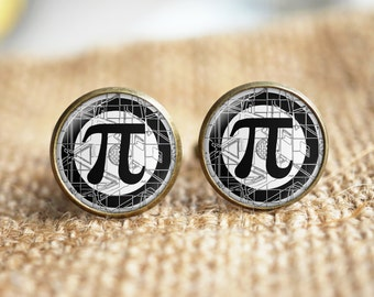 Math PI Cuff links, Pi symbol Cuff links,pi cuff links, teacher cuff links, personalized cuff links, custom wedding cufflinks, groom gifts
