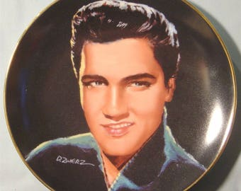 """Elvis Presley 'Portraits of the King' """"I'm Yours"""" Collector's Plate - NIB"""