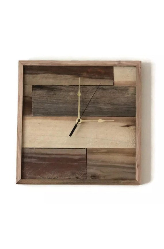 Rustic Pallet Wood Clock | Rustic Industrial Shabby Gift!