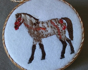 Embroidery Indian Pony Ornament