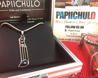 Puerto Rican Machete pendant with Snake Chain **ON SALE** until 8.20.17