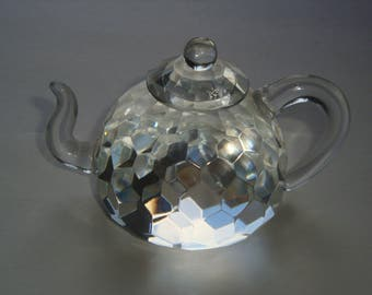 Crystal Teapot Paperweight