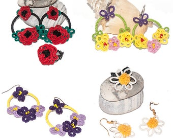 Earrings to tatting garlands spring 2017